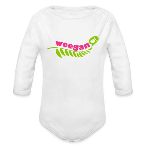 Baby Weegan White   - Long Sleeve Baby Bodysuit