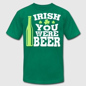Irish you were beer T-Shirts - Men's T-Shirt by American Apparel