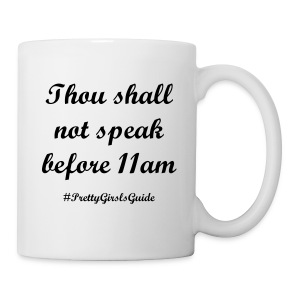 Morning Commandments Black - Coffee/Tea Mug
