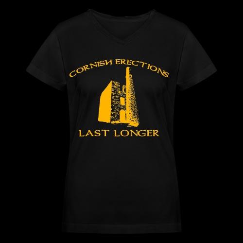 Cornish Last Longer - Women's V-Neck T-Shirt