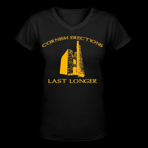 Cornish Last Longer - Women's V-Neck T-Shirt