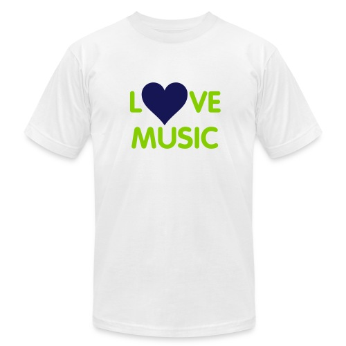 LOVE MUSIC - Men's Fine Jersey T-Shirt