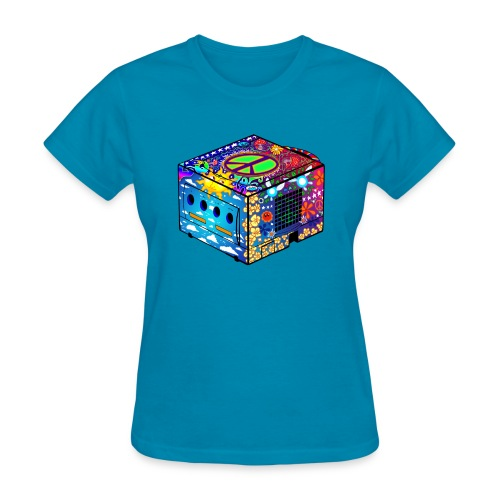 Hippie Gamecube (girly fit) - Women's T-Shirt