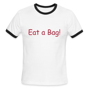 Eat a bag shirt wht/blk - Men's Ringer T-Shirt