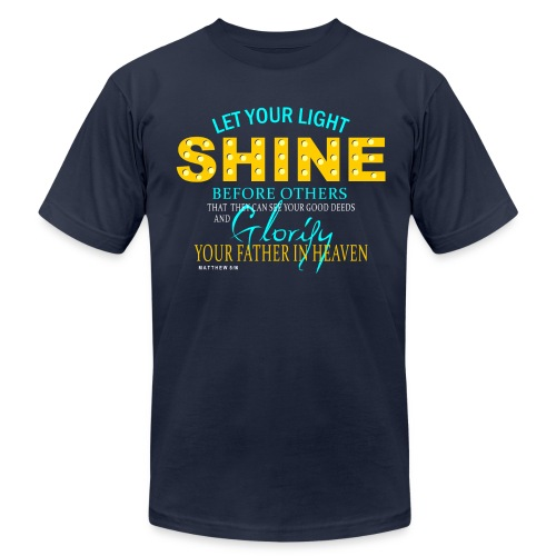 Let Your Light Shine - Men's Fine Jersey T-Shirt