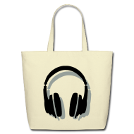 Bags & backpacks ~ Eco-Friendly Cotton Tote ~ Headphones Bag