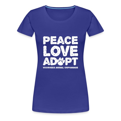 Peace, Love, Adopt Tee - Women's Premium T-Shirt