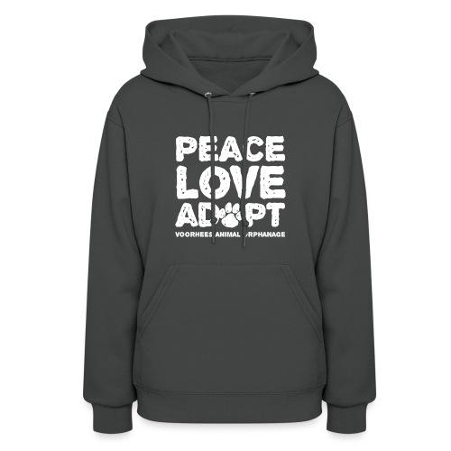 Peace, Love, Adopt Hoodie - Women's Hoodie