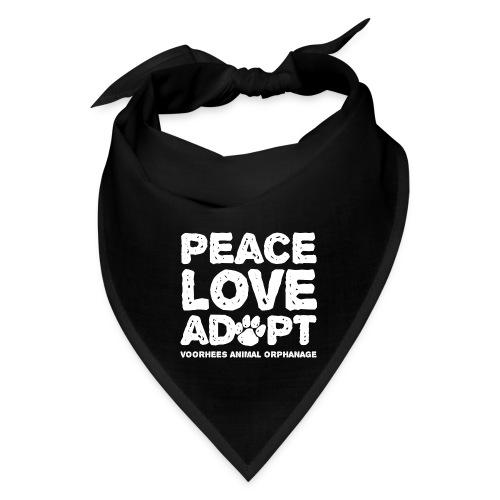 Peace, Love, Adopt Human Bandana - Bandana