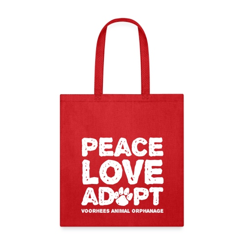 Peace, Love, Adopt Tote Bag - Tote Bag