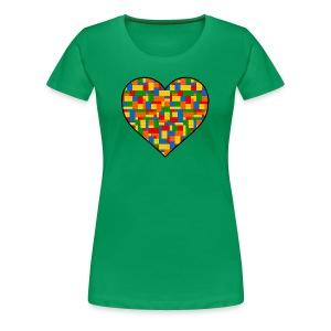 Women's Block Lover - Women's Premium T-Shirt