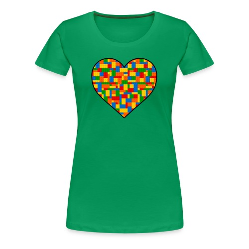 Women's Block Lover - Women's Premium T-Shirt