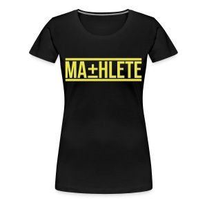 Mathlete Womens Shirt by AiReal Apparel - Women's Premium T-Shirt