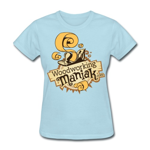 WoodworkingManiak_logo-1-LARGE.png - Women's T-Shirt
