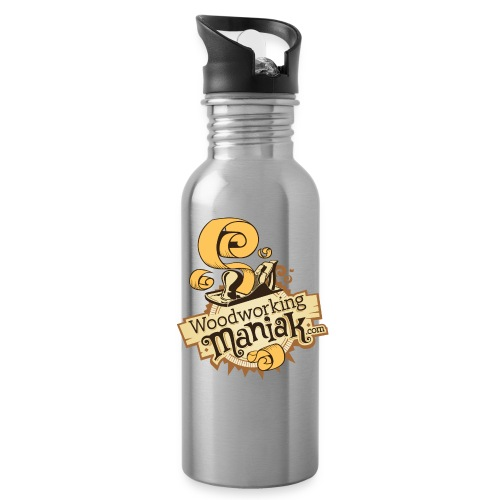 WoodworkingManiak_logo-1-LARGE.png - Water Bottle
