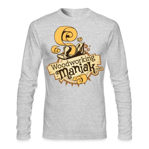 WoodworkingManiak_logo-1-LARGE.png - Men's Long Sleeve T-Shirt by Next Level