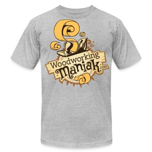 WoodworkingManiak_logo-1-LARGE.png - Men's Fine Jersey T-Shirt