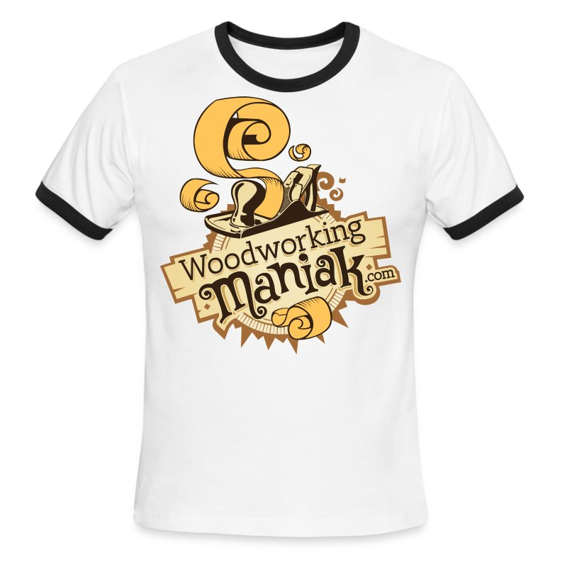 WoodworkingManiak_logo-1-LARGE.png - Men's Ringer T-Shirt