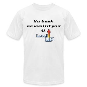 T-shirt homme un geek ne vieillit pas il level up - Men's T-Shirt by American Apparel