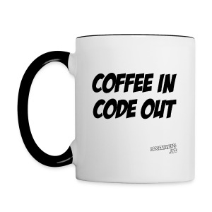 Coffee In Code Out Mug - Contrast Coffee Mug