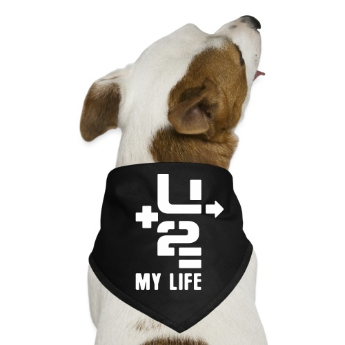 U+2=MY LIFE - front print - one size - multi colors - Dog Bandana