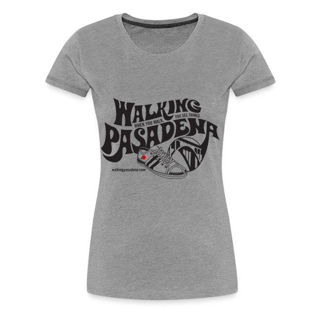 Women's Walking Pasadena T-Shirt (black logo)