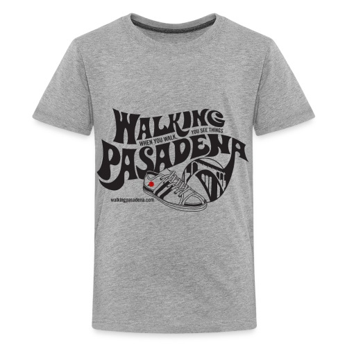 Kids' Walking Pasadena T-shirt (black logo) - Kids' Premium T-Shirt