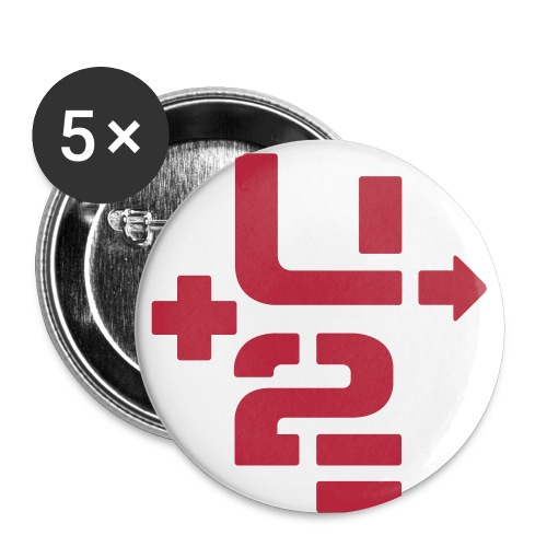 U+2=MY LIFE - 56 mm (2,25)  - Buttons large 2.2'' (5-pack)