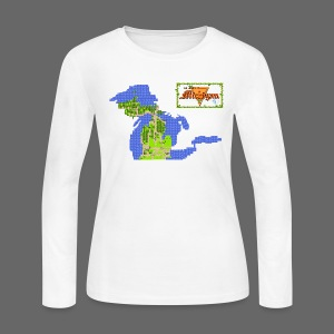 Legend of Michigan - Women's Long Sleeve Jersey T-Shirt