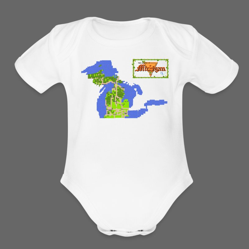 Legend of Michigan - Short Sleeve Baby Bodysuit