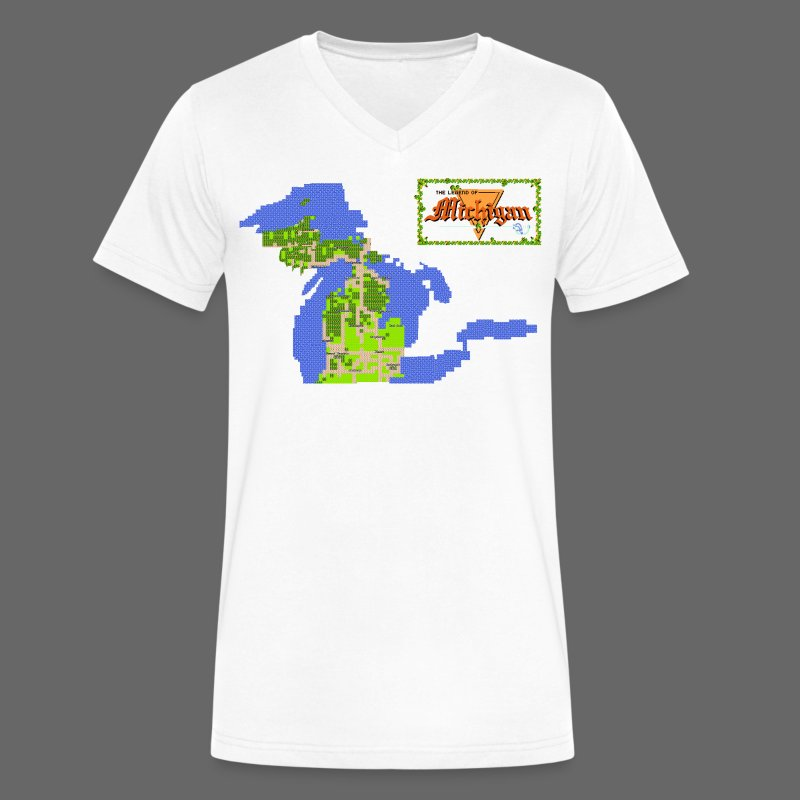 Legend of Michigan - Men's V-Neck T-Shirt by Canvas