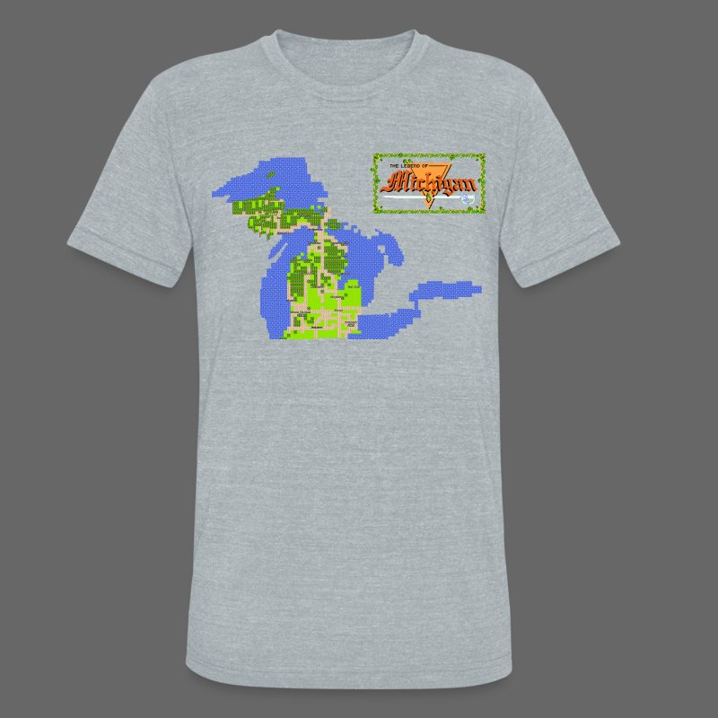 Legend of Michigan - Unisex Tri-Blend T-Shirt by American Apparel