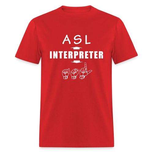 ASL Interpreter Men's T-Shirt - Men's T-Shirt