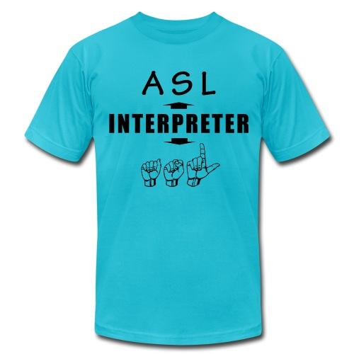 ASL Interpreter Men's T-Shirt - Men's Fine Jersey T-Shirt
