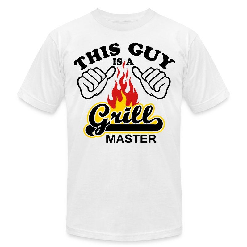 This Guy is grill master - Men's Fine Jersey T-Shirt