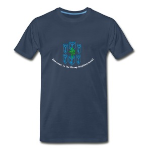 You Came to The Wrong Neighbourhood + Agent Name - Men's Premium T-Shirt