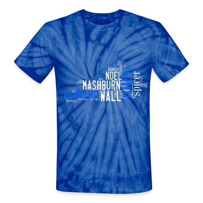 34d1aa7502f All Time Kentucky Basketball Greats Unisex Tie Dye T-Shirt