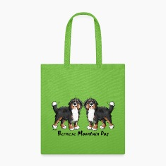 Two Bernese Mountain Dogs Bags & backpacks