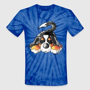 Cute Bernese Mountain Dog  T-Shirts - Unisex Tie Dye T-Shirt
