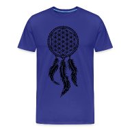 T-Shirts ~ Men's Premium T-Shirt ~ Flower of Life Dreamcatcher