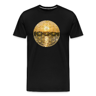 T-Shirts ~ Men's Premium T-Shirt ~ Flower of Life (Gold)