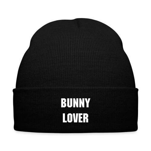 Bunny Lover Beanie - Knit Cap with Cuff Print