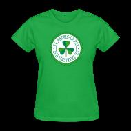 Women's T-Shirts ~ Women's T-Shirt ~ Lucky Shamrock Badge - St. Patrick's Day