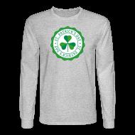 Long Sleeve Shirts ~ Men's Long Sleeve T-Shirt ~ Lucky Shamrock Badge - St. Patrick's Day