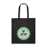 Bags & backpacks ~ Tote Bag ~ Lucky Shamrock Badge - St. Patrick's Day