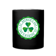 Mugs & Drinkware ~ Full Color Mug ~ Lucky Shamrock Badge - St. Patrick's Day