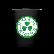 Mugs & Drinkware ~ Full Color Mug ~ Lucky Shamrock Badge - St. Patrick's Day
