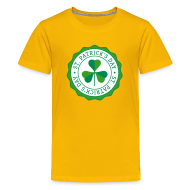 Kids' Shirts ~ Kids' Premium T-Shirt ~ Lucky Shamrock Badge - St. Patrick's Day