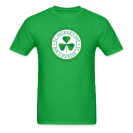 T-Shirts ~ Men's T-Shirt ~ Lucky Shamrock Badge - St. Patrick's Day