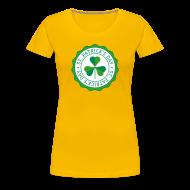 Women's T-Shirts ~ Women's Premium T-Shirt ~ Lucky Shamrock Badge - St. Patrick's Day